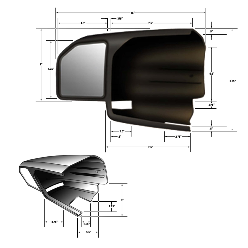 Cipa 11550 Ford 15 19 Custom Towing Mirrors For F 150 Models 1999 Mirror Wiring Diagram