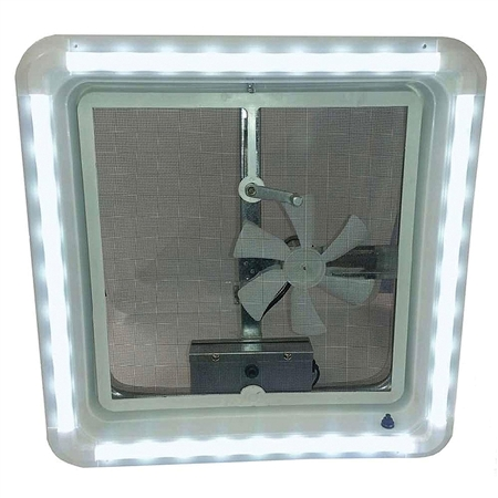 Heng's HG-LR-W-WW-AFT RV Chandelier LED Roof Vent White Trim Light - Warm White