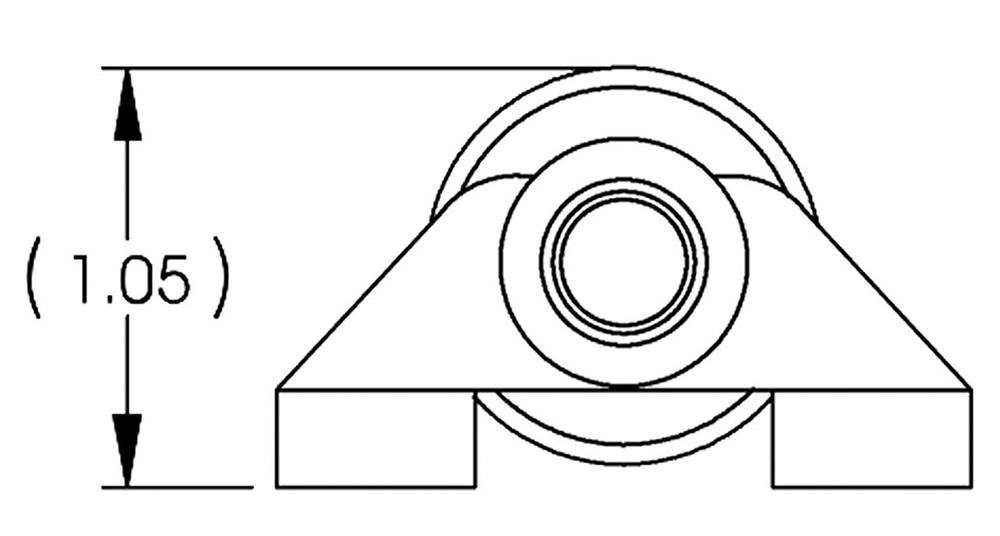 Lippert 239114 J-32 Slide-Out Roller Assembly