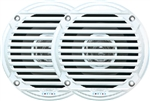 Jensen MS5006WR Dual Cone Outdoor Speaker - White - 2pk