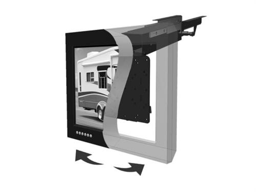 Morryde tv40 010h slide out and flip down rv tv ceiling mount - Vertical sliding tv mount ...