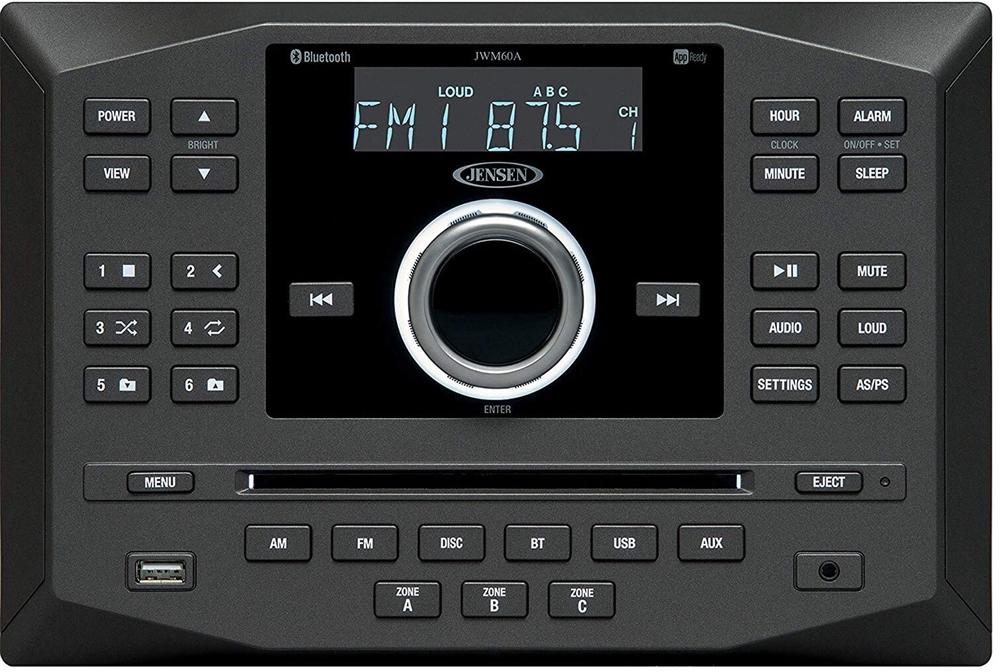 Jensen JWM60A Wall Mount RV Bluetooth DVD/CD Stereo on accel ecm wire diagram, jensen cd3010x wiring harness, jensen speaker, jensen vm9312 wiring, jensen tools, jensen din 8 pin,