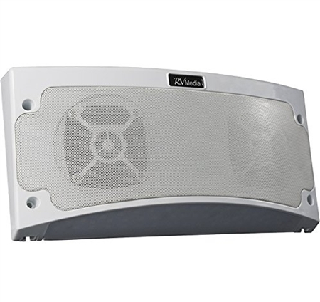 King RVM1000 Standard Bluetooth Outdoor RV Speaker W/ Light - White