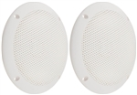 "PQN Enterprises ECO50-4W Waterproof 6"" RV Speaker - White - 2 Pack"