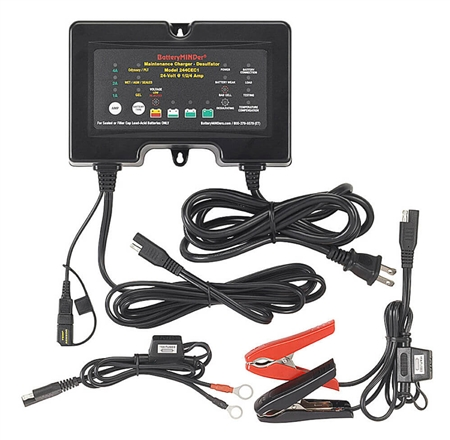 BatteryMINDer 244CEC1 24Volt 4 Amp Battery Charger - Maintainer - Desulfator - Conditioner