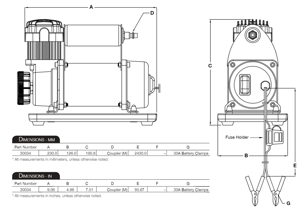 viair compressor wiring diagram viair 300p rvs portable tire compressor kit for rv towables 150 psi  viair 300p rvs portable tire compressor