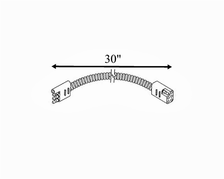 rv pigtails 30050 4-way flat to 6-way square adapter for coleman/fleetwood  - 30