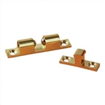 "RV Designer H221 Brass Bead 2"" Door Catch - 2 Pack"