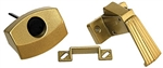 RV Designer H521 Non-Locking RV Brass Door Latch