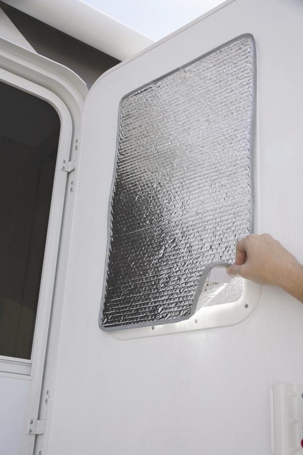 Camco 45167 Reflective Door Window Cover Solar Door Shade