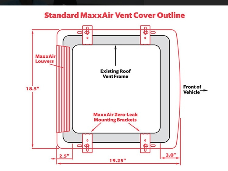 maxxair 00 933067 smoke vent cover