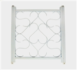 Camco 43997 Screen Door Grille, Deluxe, White