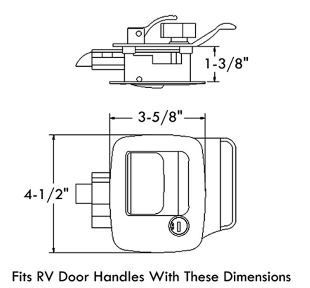 rv door latch schematics