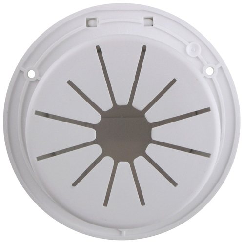 Deluxe RV Designer B110 5.2 inch Diameter Polar White Replaceable Lid Round Electrical Cable Hatch
