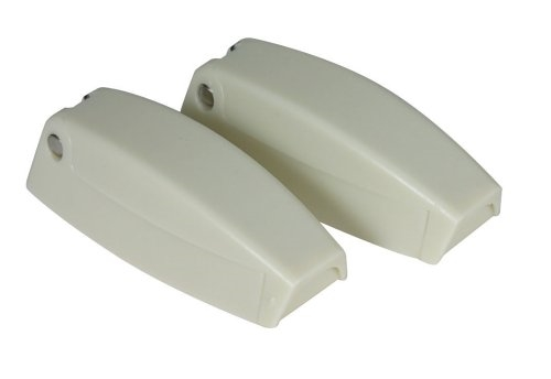 Camco 44163 RV Baggage Door Catches - Colonial White - 2 Pack