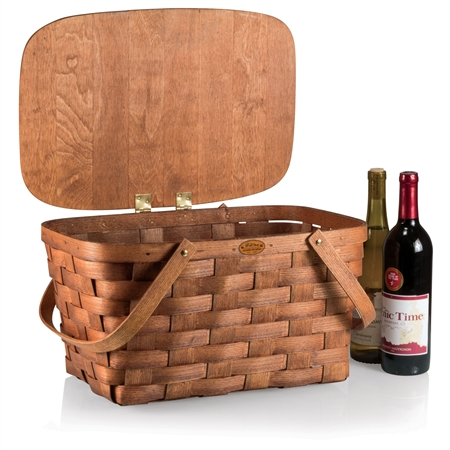 Picnic Time Prairie Picnic Basket - Natural Wood