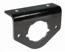 Black Epoxy Coated Connector Bracket For 4, 5 & 6 Pin Sockets