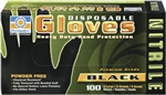 Permatex Disposable Black Nitrile Gloves - Large