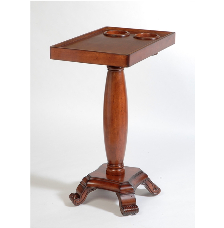 Fine The Table Server 3F 06 Mahogany Chairside End Table With Oval Leg Bralicious Painted Fabric Chair Ideas Braliciousco