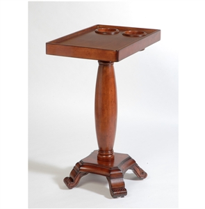 The Table Server 3F-06 Mahogany ChairSide End Table With Oval Leg