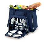 Picnic Time Toluca Blue With Gray Tote