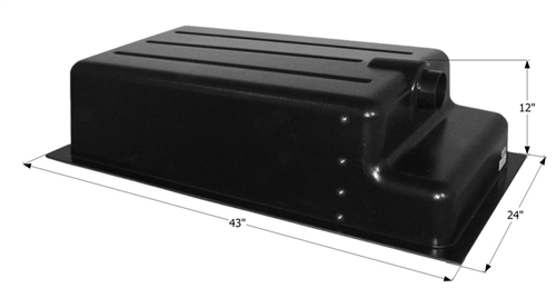 Icon 31 Gallon RV Holding Tank - Recessed Drain HT152RE