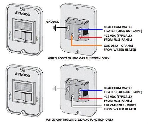 atwood 91959 water heater power switch  black