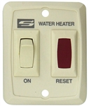 Suburban 234795 RV Water Heater Wall Switch With Light Assembly - Cream