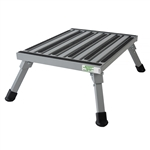 Safety Step F-08C-V Large Folding Step Stool - Silver - 8""