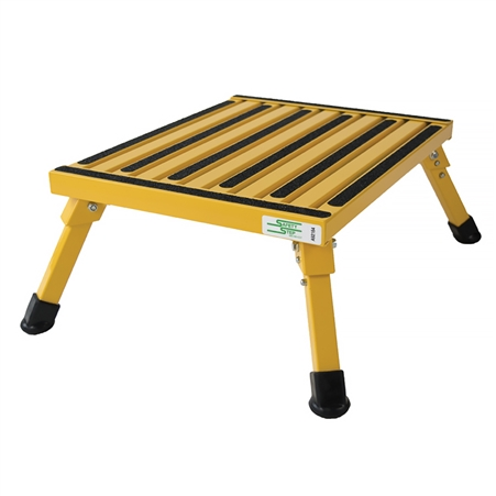 Safety Step F-08C-Y Large Folding Step Stool - Yellow - 8""