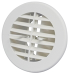 D&W 3840RWH Heat Vent With Damper - White - 4""