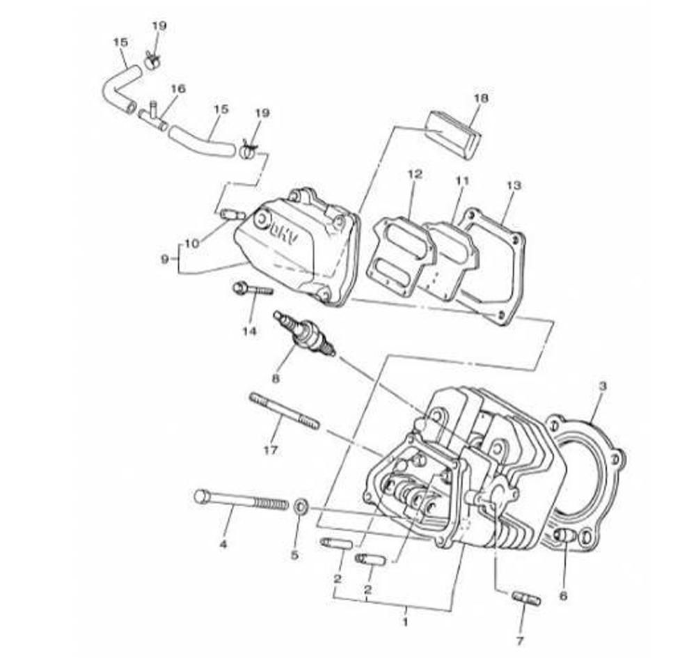 Yamaha BPR-4ES00-40 Spark Plug for 2400,2600,2800,3000W RV Generators