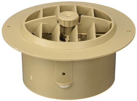 D&W 3840RDB Air Vent With Damper - Beige - 4""