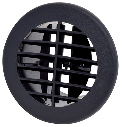 D&W 3840RBK Air Vent With Damper - Black - 4""