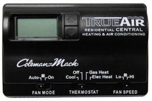 Coleman Mach 6535-3442 Digital True Air RV Thermostat - Black - 2 Stage