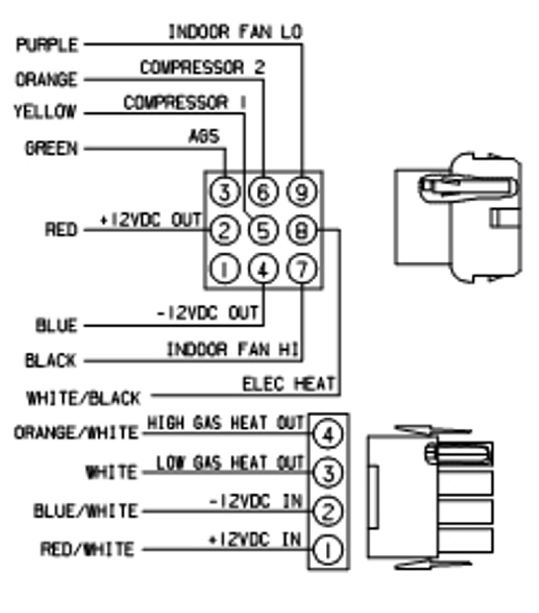 coleman mach 6535 3442 true air digital 2 stage heat pump gas rh rvupgradestore com coleman thermostat wiring schematic coleman thermostat wiring for mobile home