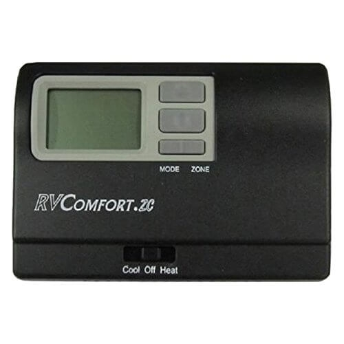 Coleman Mach 9330A3341 Zone Control 9-Series 4 Stage Digital RV Thermostat - Black