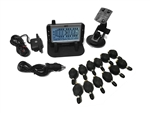TST TST-507-FT-12 Flow Through Sensor Tire Pressure Monitoring System - Black & White - 12 Pack