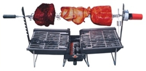 Mr Flame  Son Of Hibachi Barbeque System With Rotisserie