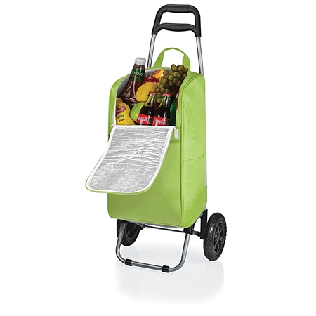 Picnic Time Cart Cooler with Trolley - Lime