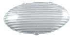 Gustafson AM4046 Oval RV Porch Light Replacement Lens - Clear