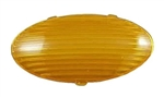 Gustafson AM4047 Oval RV Porch Light Replacement Lens - Amber