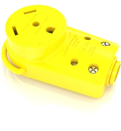 Furrion F30FMP-RY 30 Amp Straight Blade Female RV Connector End