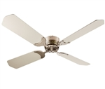 "LaSalle Bristol 410TSDC42BNWH 12V 42"" RV Ceiling Fan Nickel With White Blades"