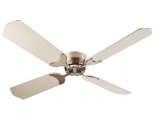 LaSalle Bristol 410TSDC42BNWH RV Ceiling Fan Nickel With White Blades