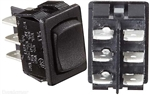 RV Designer S451 10A DC DPDT Rocker Switch - Black