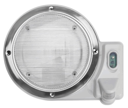 Smart Lights 016-SL2000 White Round Motion Porch Light
