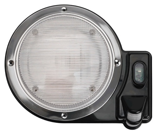 Smart lights 016 sl2000b 2000 round motion sensor porch light black aloadofball Choice Image