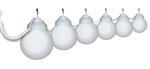 Polymer Products 16-01-00379 White Globe String Lights - Set of 6