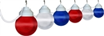 Polymer Products 16-99-00705 Globe Patriotic String Lights - Set of 6